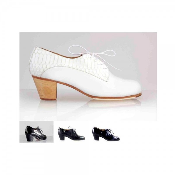 Zapato de flamenco. Modelo Blutcher Caballero