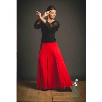 Falda de ensayo para baile flamenco. Modelo Español