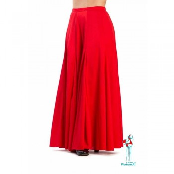 Falda de ensayo para baile flamenco. Modelo Español color rojo