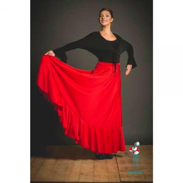 Falda de ensayo para baile flamenco. Modelo Rociana