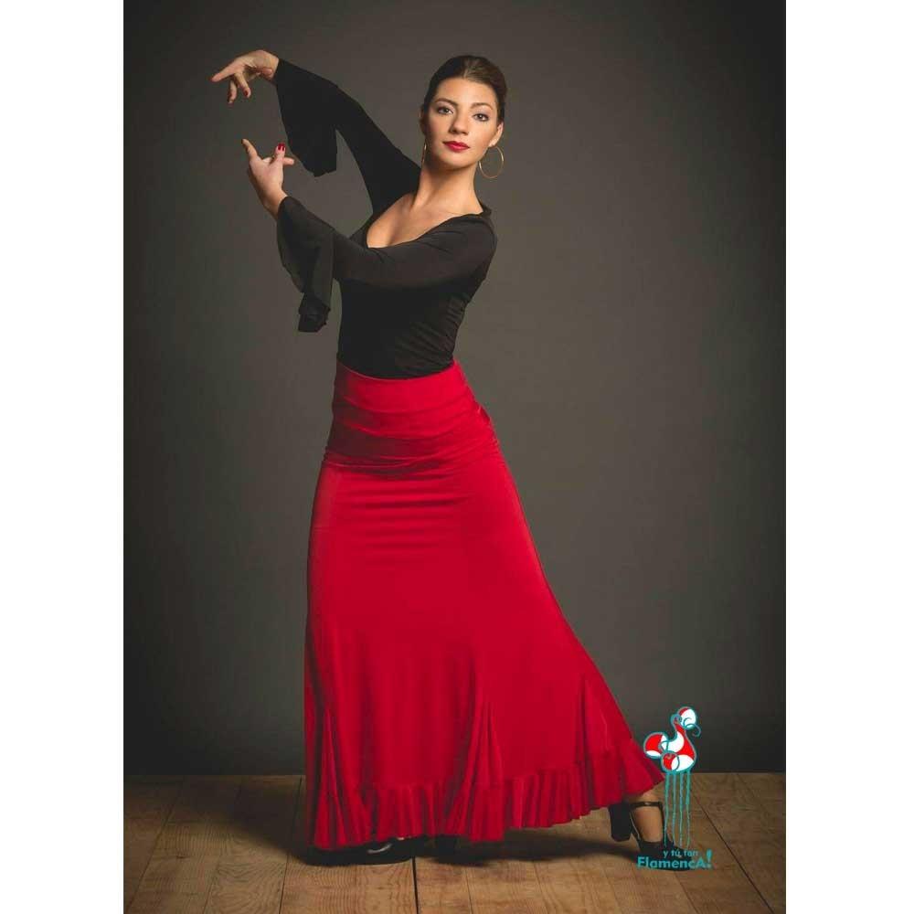 Falda de ensayo para baile flamenco. Modelo Velilla