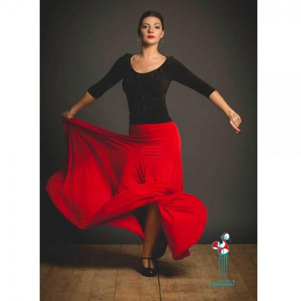 Falda de ensayo de baile flamenco. Modelo Cala