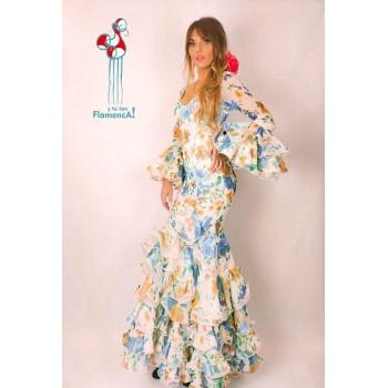 Traje de flamenca outlet modelo Flores talla 38