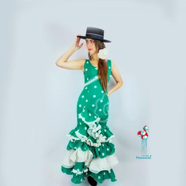 Traje de flamenca outlet modelo Petunia talla 36