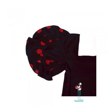 Body o maillot de flamenco con volantes en las mangas negro manga