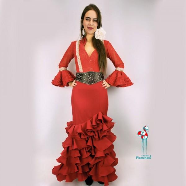 Falda flamenca. Modelo Alejandra.Talla 40