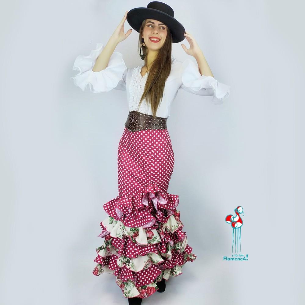 Falda flamenca. Modelo Petri. Talla 48.