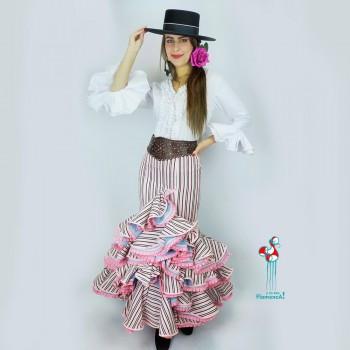 Falda flamenca. Modelo Sofia. Talla 40