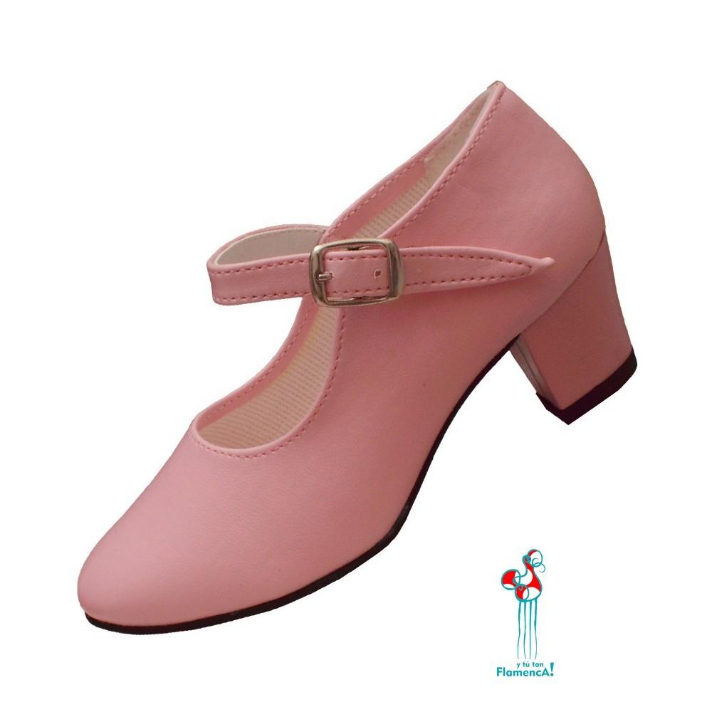 Zapato flamenco rosa