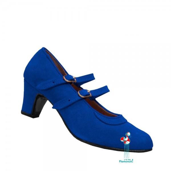 Zapato flamenco amateur azulón 2 correas