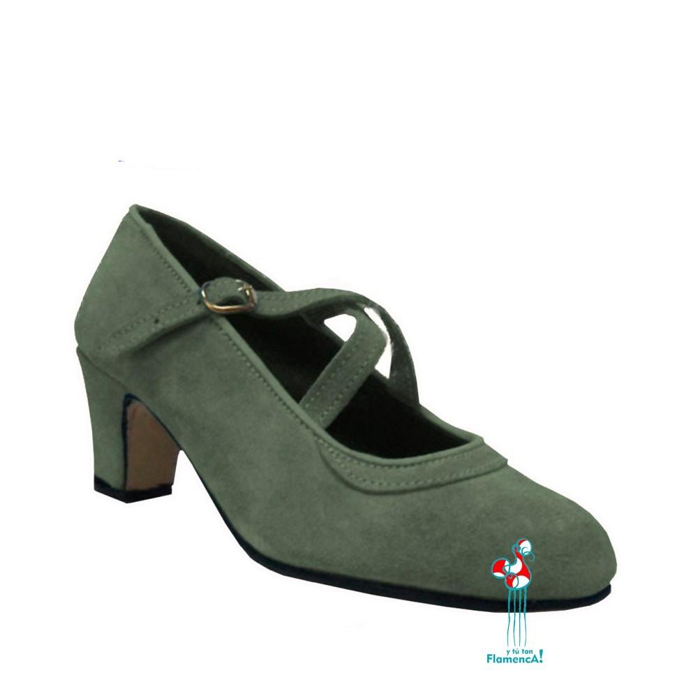 Zapato flamenco amateur gris
