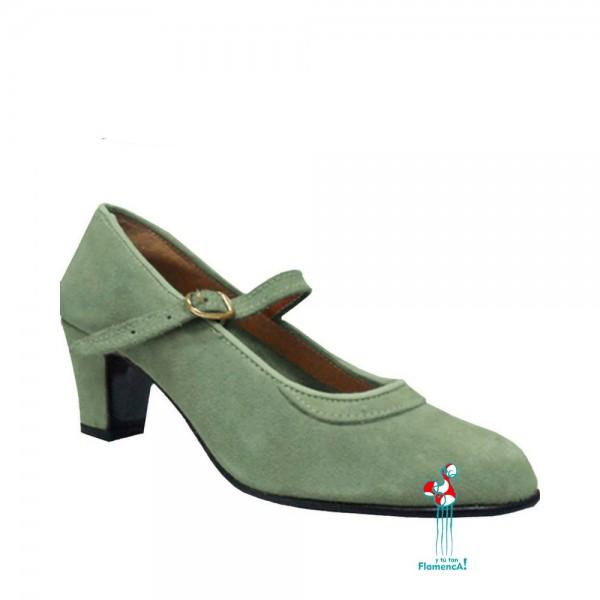 Zapato flamenco amateur gris una correa