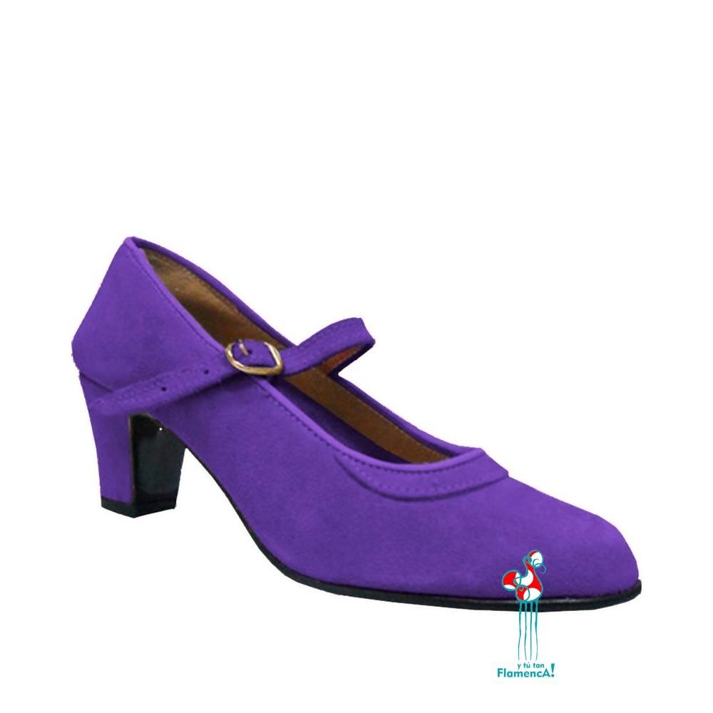 Zapato flamenco amateur lavanda  una correa
