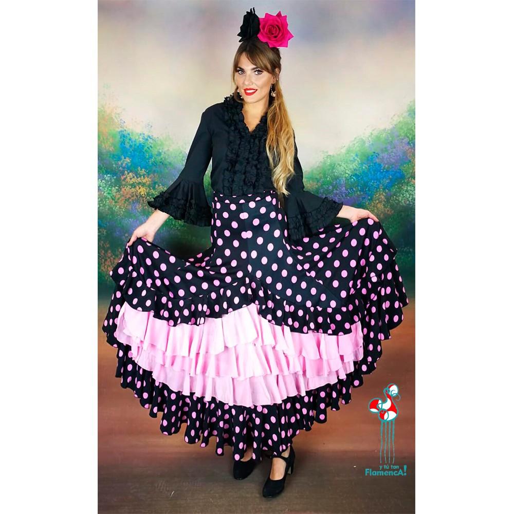 Camisa de flamenca negra