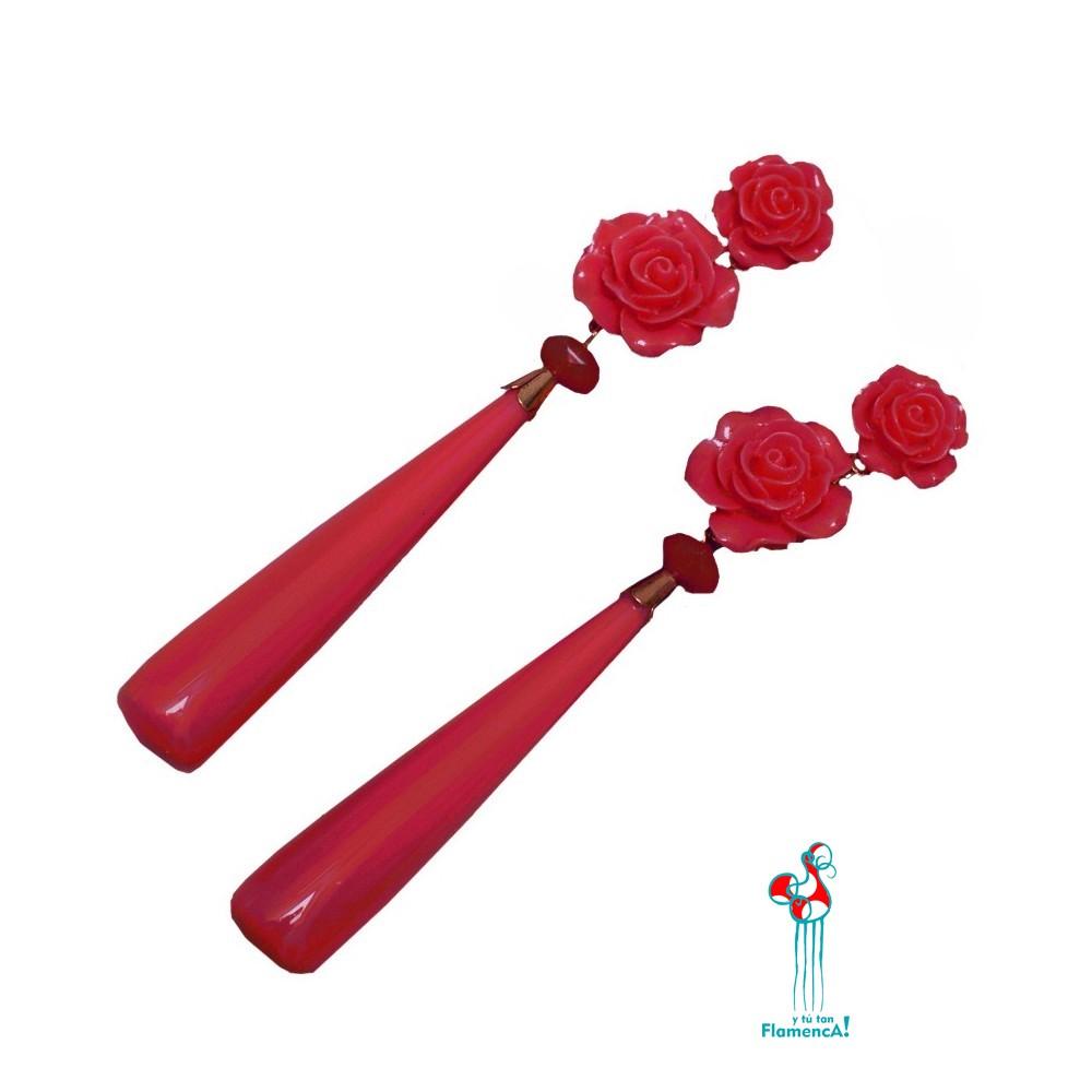 Pendientes de flamenca en varios colores